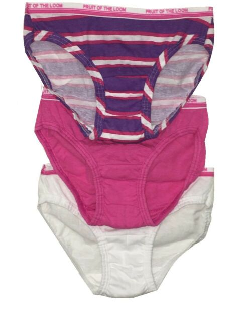 Fruit Of The Loom Girl Kid 6pk 100/%cotton Assorted Print Panties Brief Size2T-14