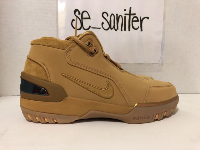 hot sale online 7671e d1362 MEN'S NIKE LEBRON AIR ZOOM GENERATION ASG QS WHEAT GOLD AQ0110 700 SIZE 7