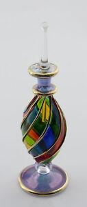 Flachmann Fläschchen A Parfüm Öl aus Glas Mundgeblasen D'Ägypten 14.5cm Esprit