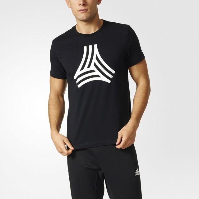 e402a81ab adidas Tango Cage Graphic Logo Soccer-football T Shirt Black Mens Sz ...