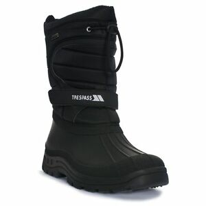 Trespass-Dodo-Mens-Ladies-or-Womens-Water-Resistant-Black-Winter-Snow-Boots