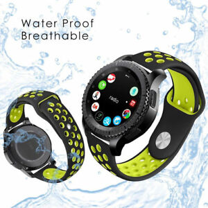 lowest price 6d40b 7448a Details about 22mm Silicone Waterproof Watch Band Strap For Samsung Gear S3  Frontier/Classic