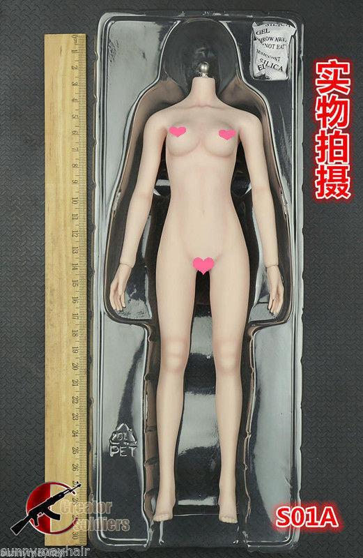 TBLeague 1 6 Súper Flexible donna Sin Costuras Body medio pecho pálido esqueleto S01A