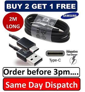 2-m-original-Samsung-S8-S9-Type-C-cable-USB-C-Rapide-Chargeur-Veritable-Donnees-Sync-plomb