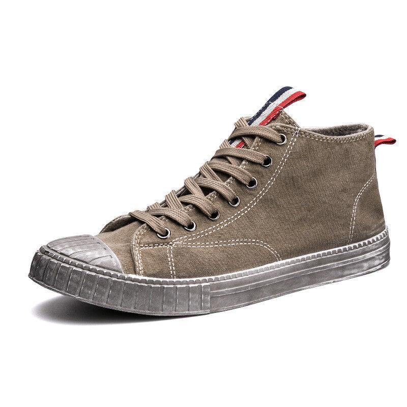 Men's Japanese Vintage Harajuku Board shoes Canvas Flat Heel Sneaker Casual New