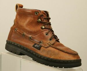 34b96490fd4 Details about Women's SZ 6 M Justin Lace Up BROWN Cowhide Chukka Western  HIKING BooTS A486