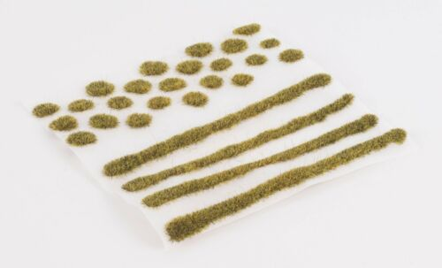 WWS 2mm Patchy Static Grass Modeling Tufts/Strips Mix - Railroad Warhammer 40k