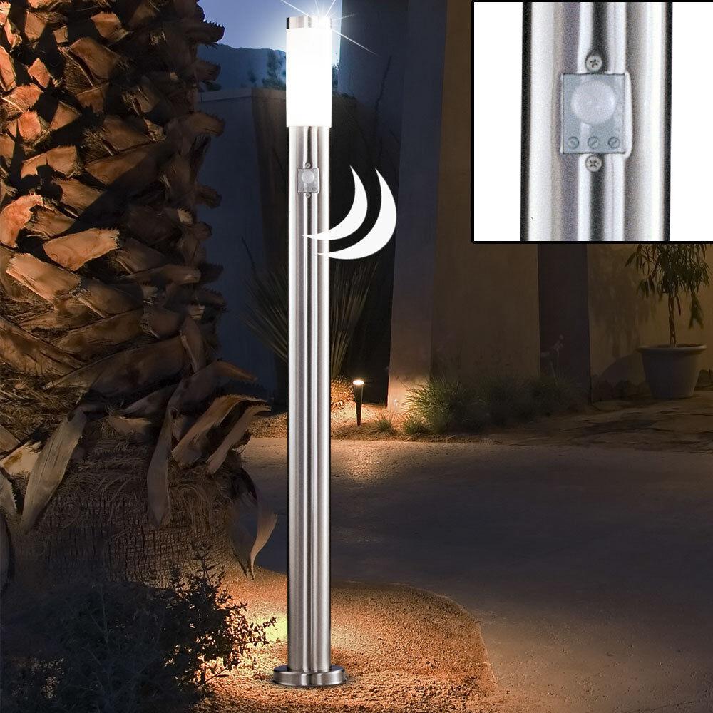 Lampadaire extérieur LED 7W acier inox détecteur de mouvement Globo Boston 3159S