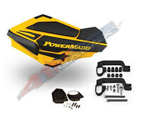 Powermadd Sentinel Handguard Hand Guards Mirror Ski Yellow Snow Snowmobile Hayes