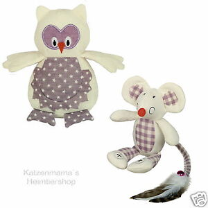 BUHO-DE-TELA-13cm-stoffmaus-18cm-con-Hierba-Gatera-juguetes-Gato-para-Nobby