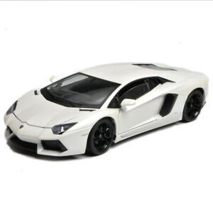 Welly-1-18-Lamborghini-Aventador-LP700-4-Racing-Diecast-Model-Car-White-IN-BOX