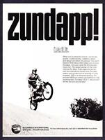 "1969 Zundapp I.S.D.T. Motorcycle photo ""You're Aboard a Winner"" promo print ad"