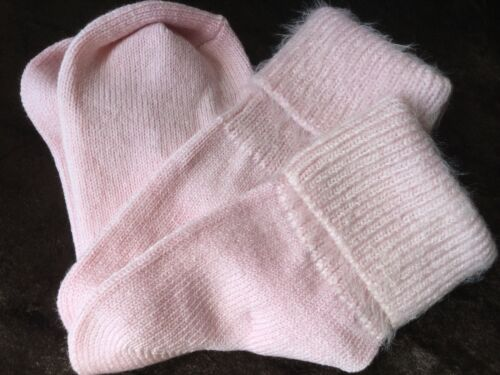 LADIES LUXURY QUALITY MERINO COTTON ANGORA  ANKLE FLUFFY TRIM GIFT SOCKS