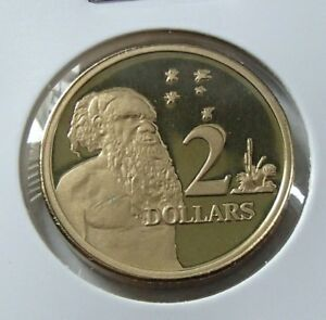 2000 Australia Two Dollar $2 Aboriginal Elder PROOF Coin ex Proof Set