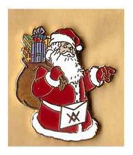 santa compass and square lapel badge  the craft masonry masonic christmas