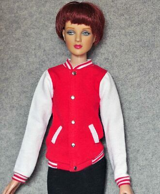 "16/"" doll clothes Pink /& White Baseball Jacket For Tonner Tyler Franklin Dolls"