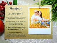 Einladungskarten Zur Hochzeit. Wunschtext + Foto. Individuelle Bestellung
