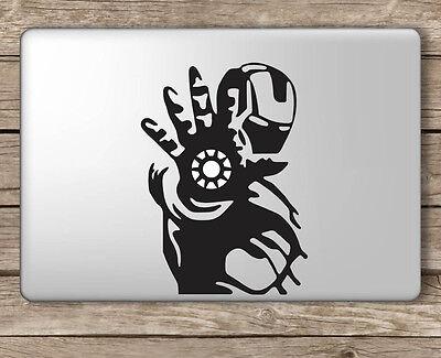 Iron Man Palm Center Avengers - Apple Macbook Laptop Vinyl Sticker Decal
