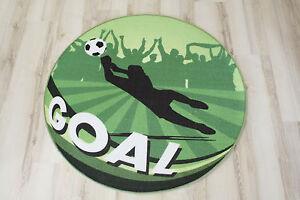 Pallone-da-calcio-Tappeto-anti-scivolo-GOAL-VERDE-100CM-TONDO