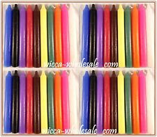 """Lot of 40 x 6"""" Taper Spell Candles: ASSORTED COLORS (Pagan Wicca Altar Magick)"""