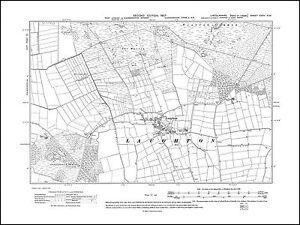 OLD ORDNANCE SURVEY MAP KINGS LYNN 1907 SANDRINGHAM LONG SUTTON NORTH RUNCTON