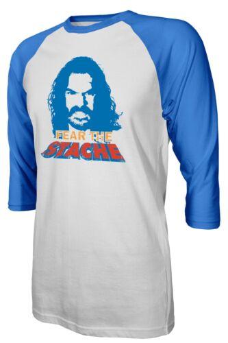 "Oklahoma City Thunder Steven Adams /""Fear The Stache/"" Raglan Quarter T-Shirt"