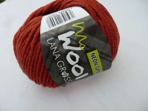 5,00€//100g Lana Grossa Mc Wool Neon Sport 50g Farbe 118 braun