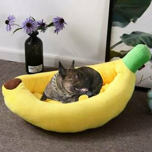 Warm-Pet-Bed-Kennel-Mat-Bananas-Shape-Cushion-Dog-Cat-Nest-Blanket-Pad-Soft-New