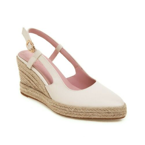 Women/'s Espadrilles Wedge Heels Slingbacks Sandals Pointed Pumps Casual Shoes
