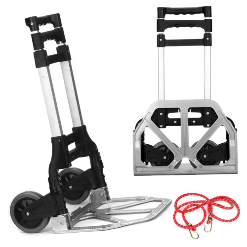 Diable Charge Max 80 Kg Chariot Aluminium Entièrement Pliable Manutention
