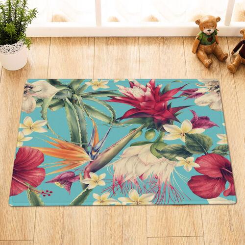 Aquarelle motif floral avec Tropical Fleur Rideau de douche ensemble salle de bain décor
