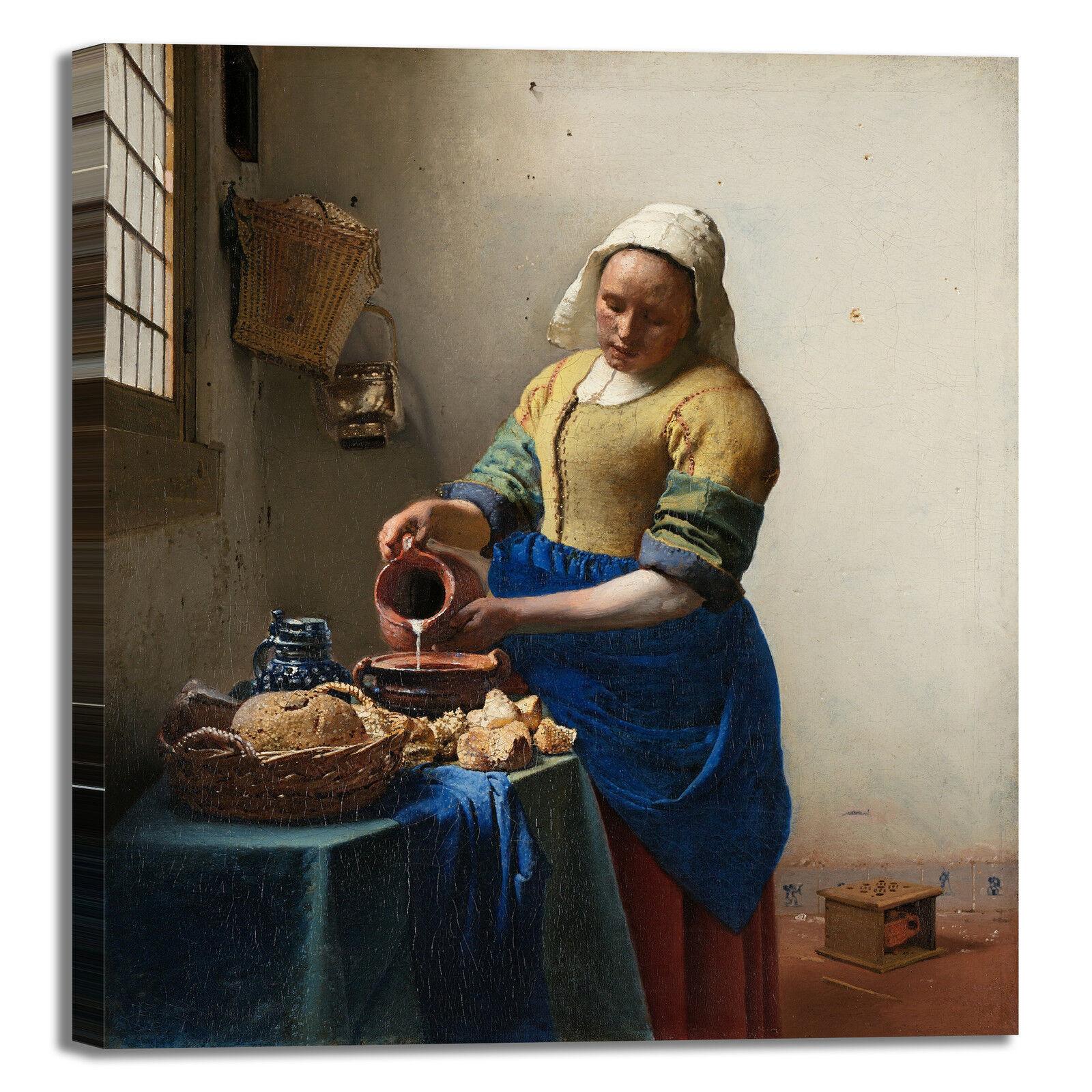 Vermeer la lattaia design quadro stampa tela dipinto telaio arroto casa