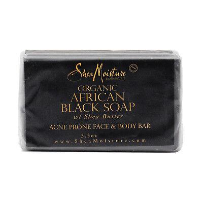 Shea Moisture Organic African Black Soap Shea Butter ACNE Face & Body Bar 3.5 oz