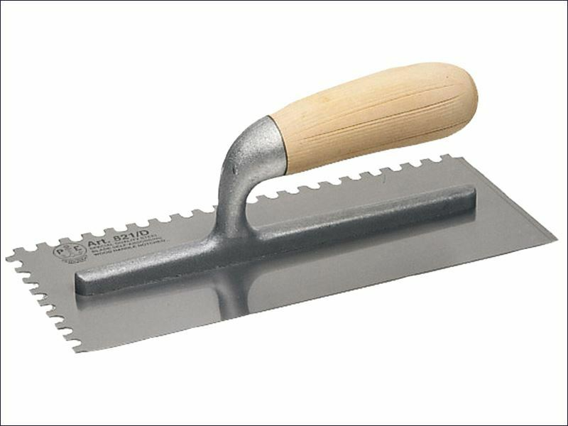 Faithfull - 822 Adhesive Trowel Serrated Edge 6mm Wooden Handle 11 x 4.1 2in