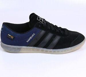 premium selection 859a6 23533 Image is loading Adidas-Hamburg-RARE-9-5-Black-Navy-Halfshoe-
