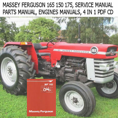 MASSEY FERGUSON 165 150 175 TRACTOR SERVICE MANUAL PARTS OPS ENGINES MANUALS EBay