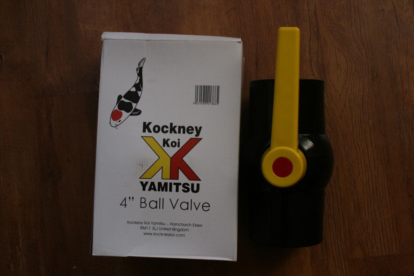 "Koi fish pond filter Kockney Koi Yamitsu 4/"" 110mm  Ball Valve"