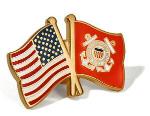 United States And Coast Guard Flag Pin