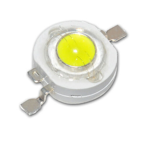 Imax=350mA Uf=3,2V 3 Stück 1W Power LED Emitter kalt-weiß 12000-15000K 110 lm