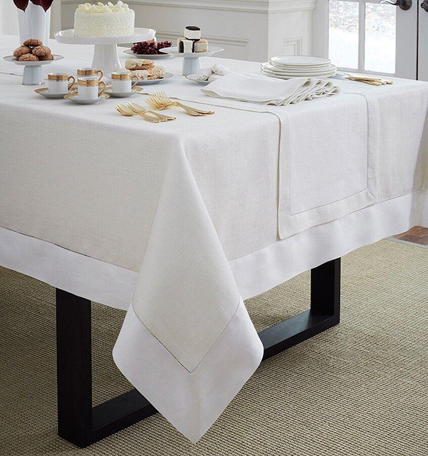 SFERRA Reece 66x124 Tablecloth - blanc or