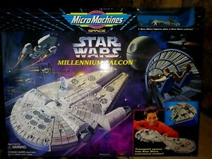 GALOOB-MICRO-MACHINES-STAR-WARS-MILLENNIUM-FALCON-PLAYSET-1995-NEW-SEALED-MIB