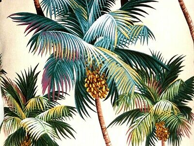 25x24 Tropical 100/% Cotton Barkcloth Fabric COUCH SEAT SLIPCOVER ~Palm Trees-Blk