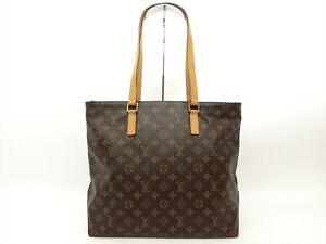 Louis-Vuitton-Authentic-Monogram-Cabas-Mezzo-Tote-Shoulder-Shopping-Shoppers-Bag