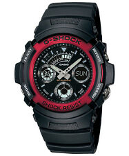CASIO AW-591-4A G-SHOCK Ana-Digi Resin Strap Black Red
