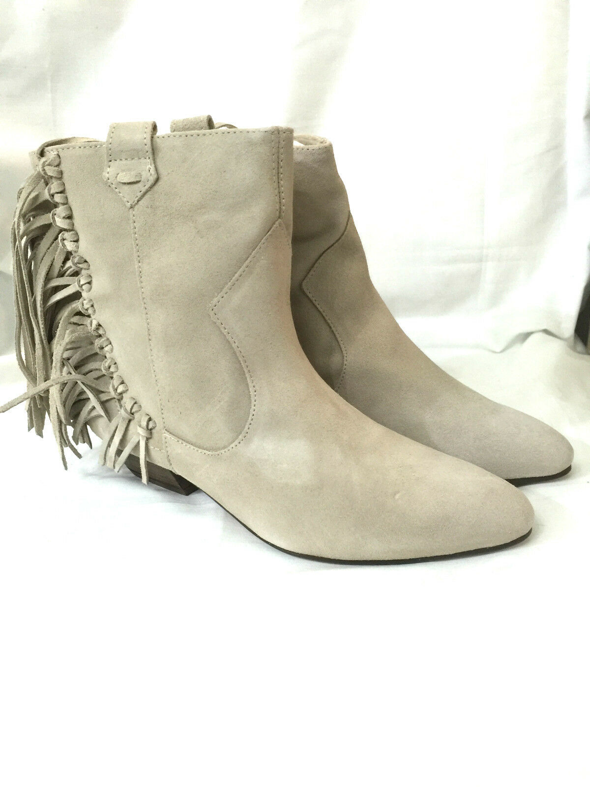 ZARA BEIGE LEATHER FRINGE ANKLE ANKLE ANKLE BOOTS SIZE 37_38_39_40 NEW WITH BOX a85ce9