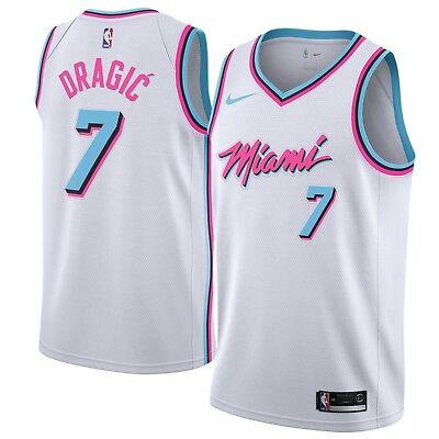 new concept 239b5 180da Nike 2018 NBA Miami Heat Goran Dragic 7 Swingman City Edition Miami Vice  Jersey   eBay