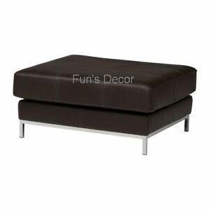 Ikea Kramfors Hoekbank.Details About New Ikea Kramfors Footstool Cushion Leather Cover Slipcover Marig Dark Brown