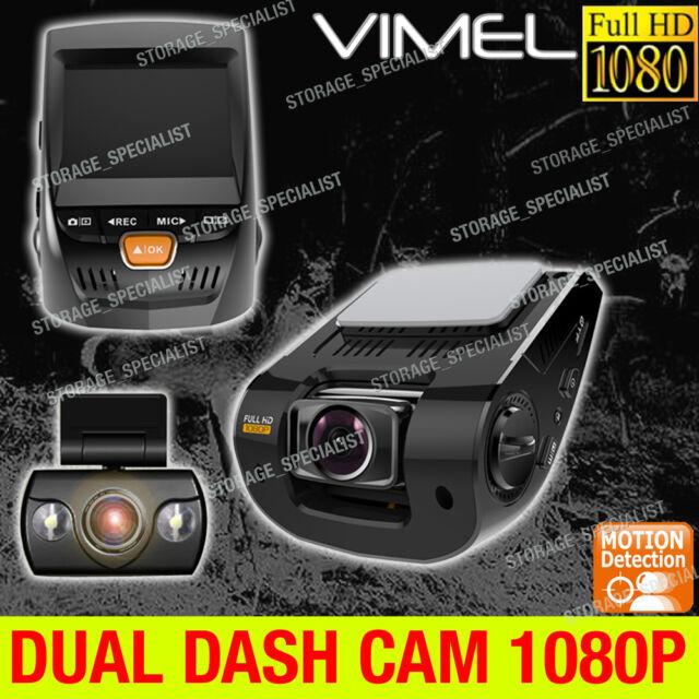 Dual Dash Camera In Car Recorder FULL HD 1080 Dash Video CrashCam Blackbox