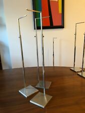 Brushed Stainless Handbag Counter Display Stands Set Of 3