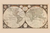 World Map 1799 Poster 24in X 36in